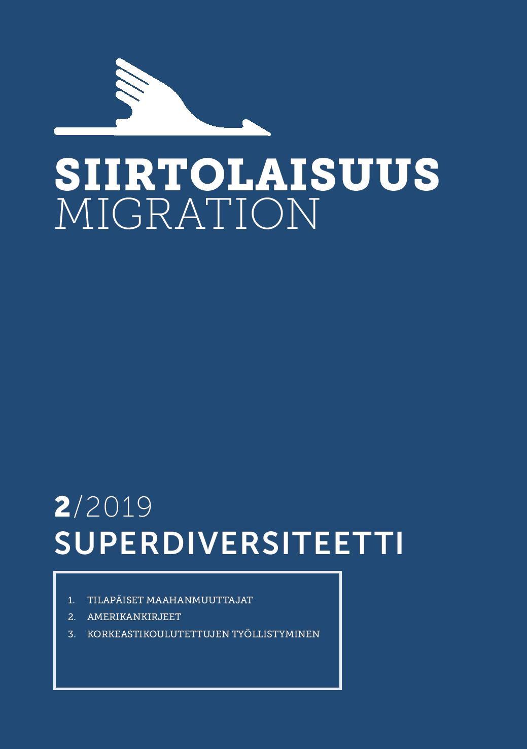 Näytä Vol 45 Nro 2 (2019): Superdiversiteetti