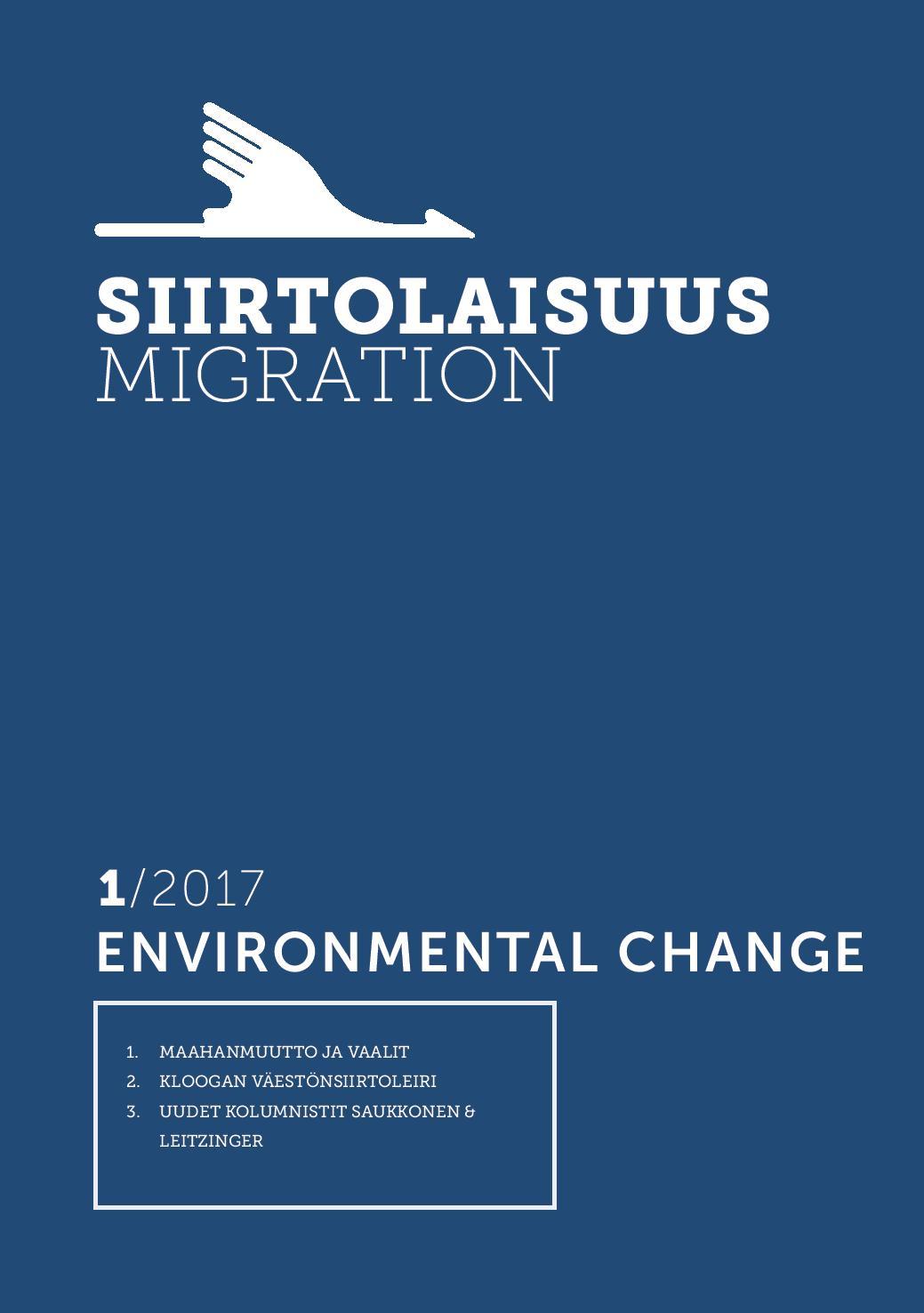 Näytä Vol 43 Nro 1 (2017): Enviromental change