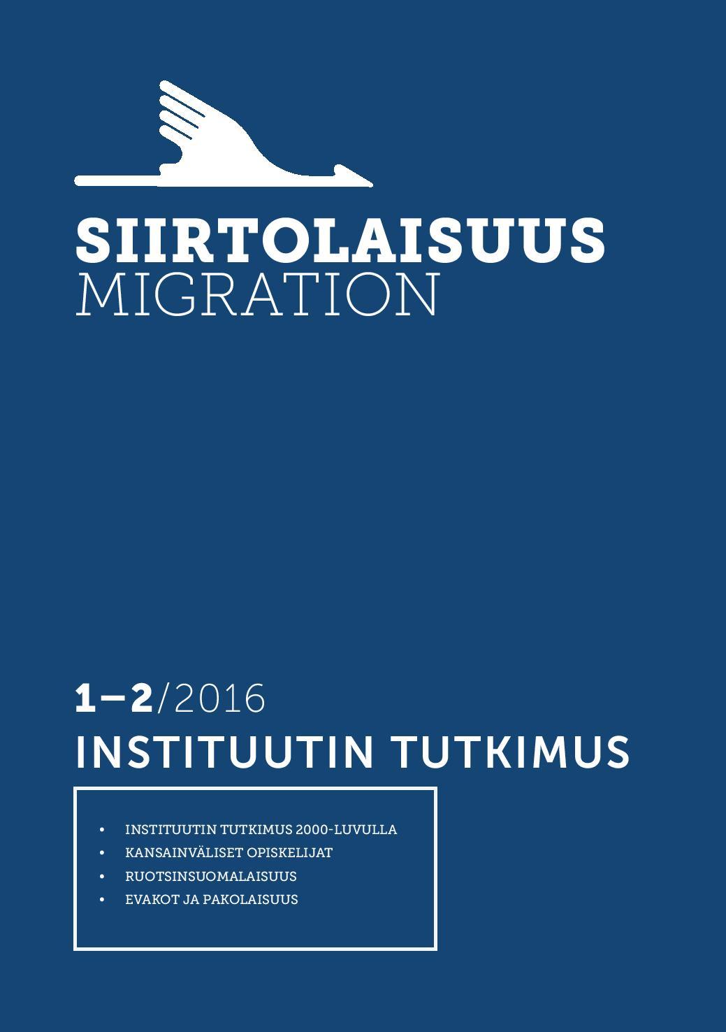 Näytä Vol 42 Nro 1-2 (2016): Instituutin tutkimus