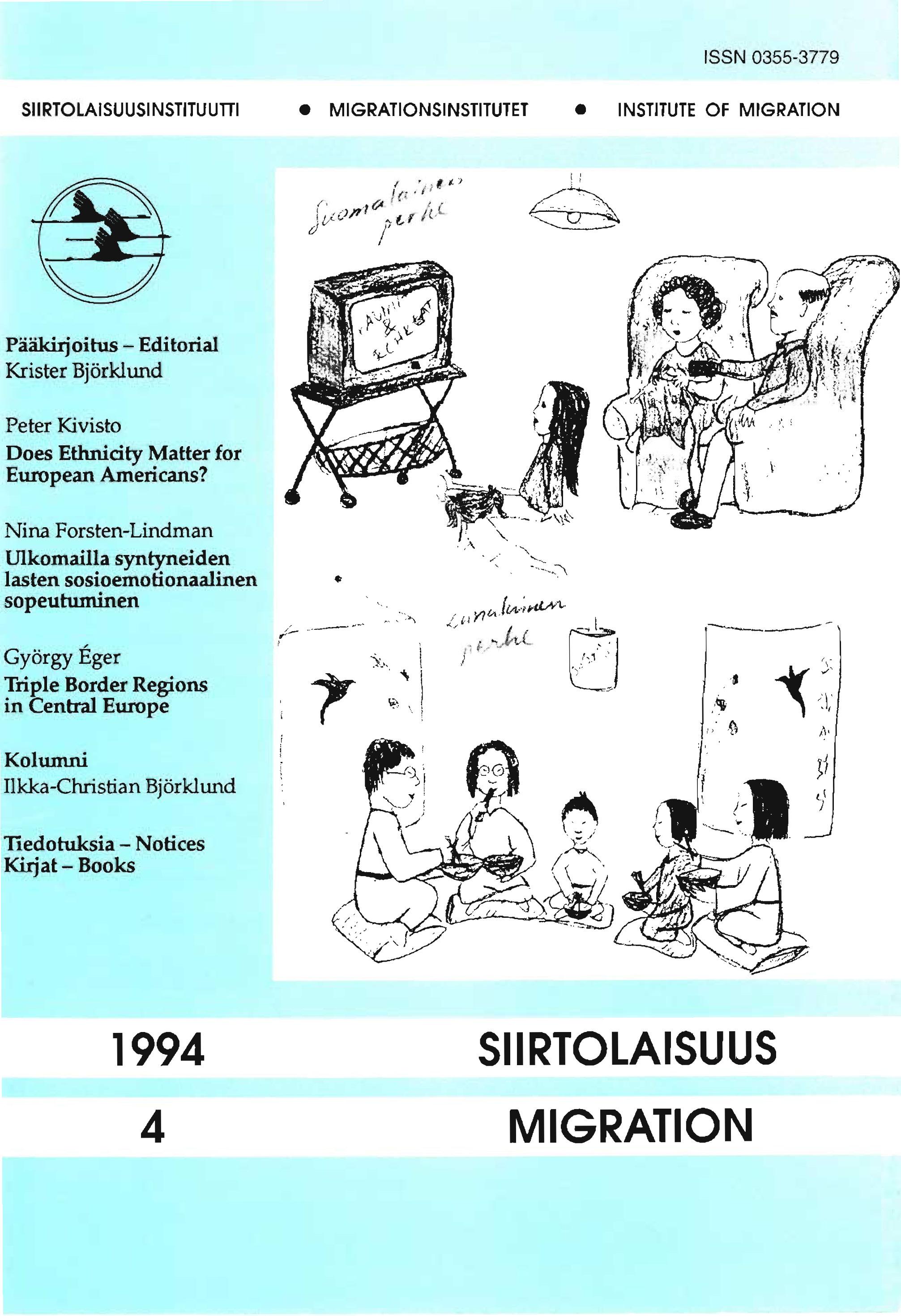 Näytä Vol 21 Nro 4 (1994)